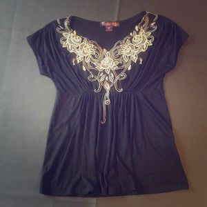 Rock & Roll Cowgirl embellished blouse
